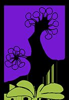 gruenmaler Blüte lila