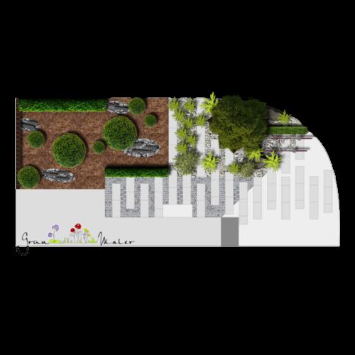 referenzen-garten-planung-entwurf-vorgarten-kies-formschnitt